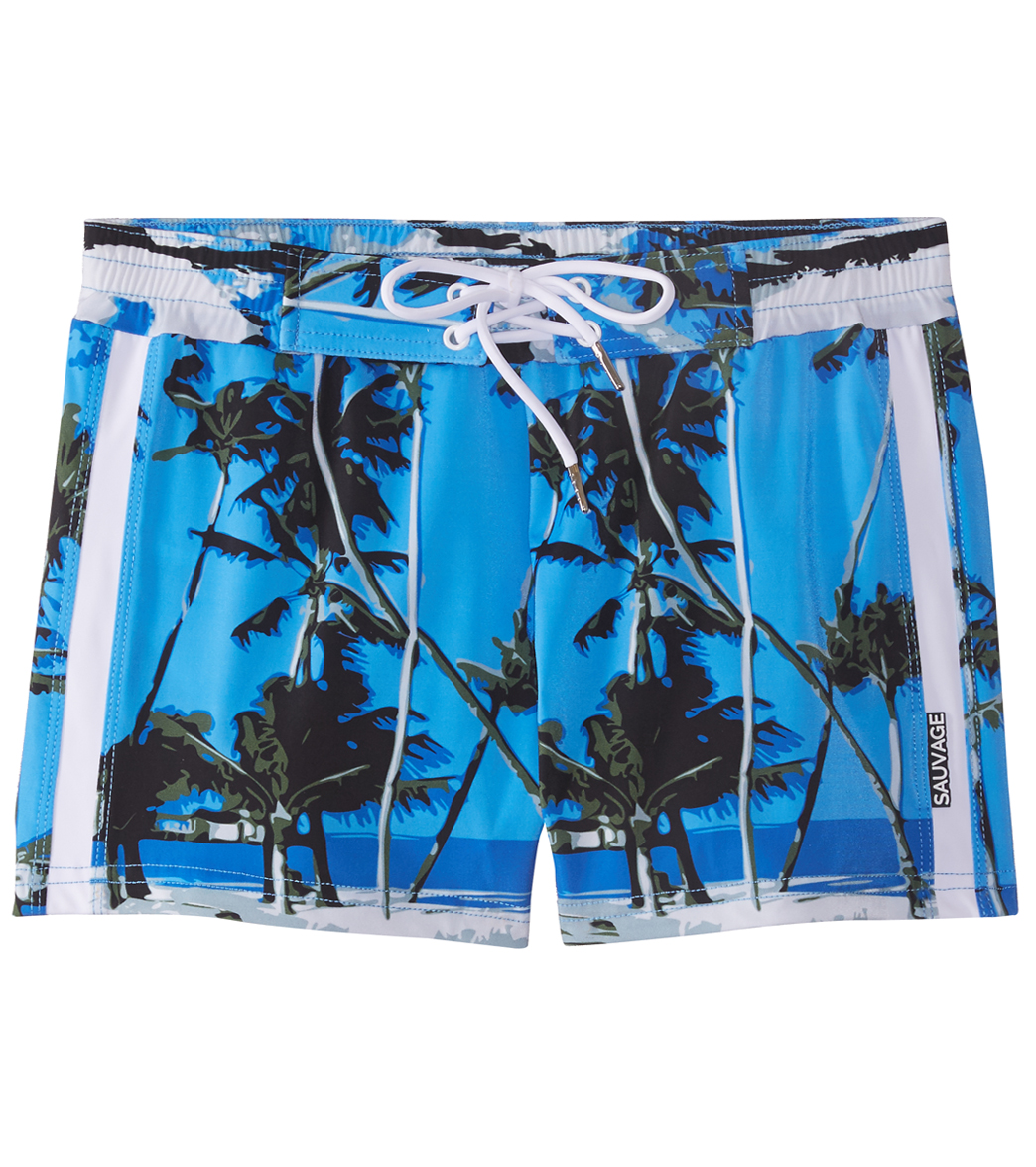 e62d078144958 Sauvage Caribbean Blue Swim Trunks at SwimOutlet.com - Free ...