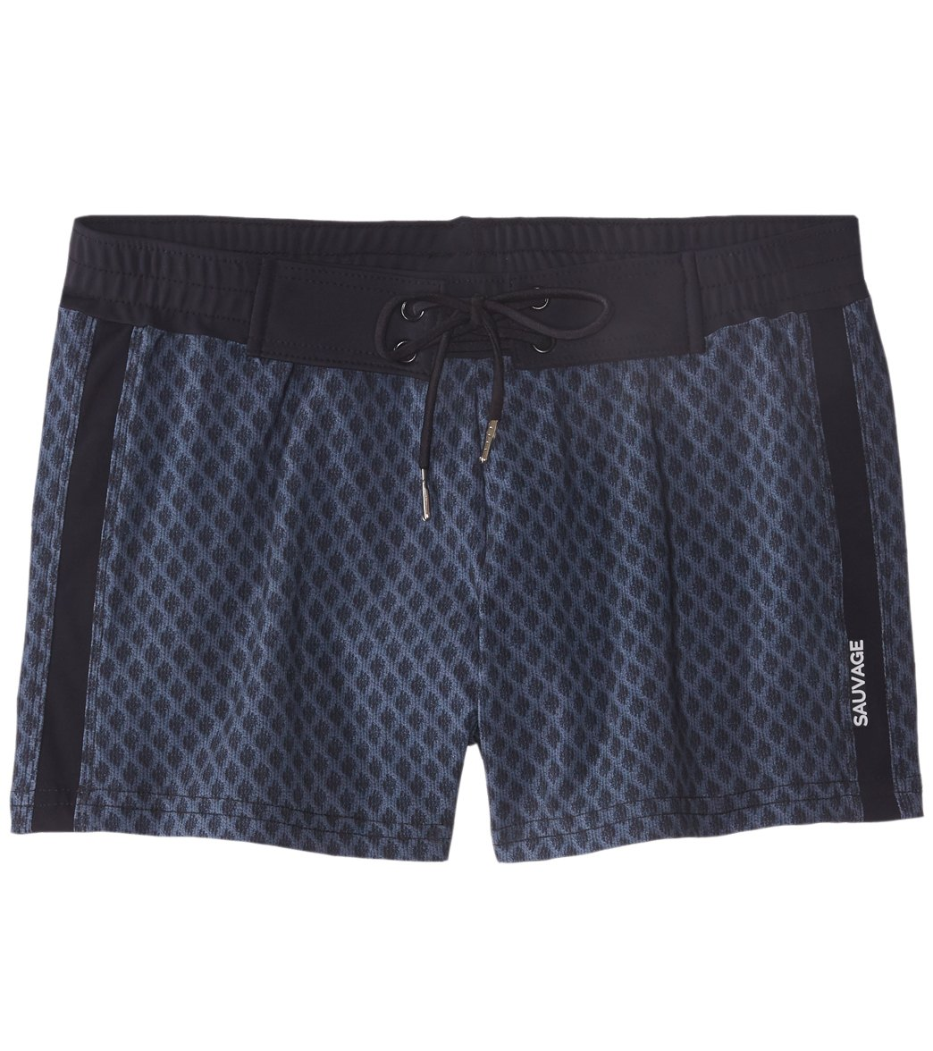 4f94b04d85ca9 Sauvage Diamond Swim Trunk at SwimOutlet.com - Free Shipping