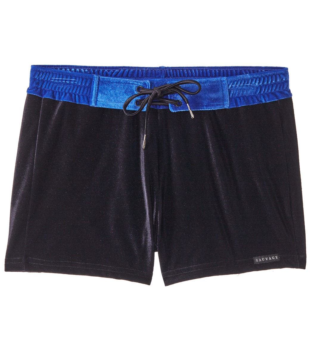 Sauvage Velvet Riviera Swim Trunk Royal//Black