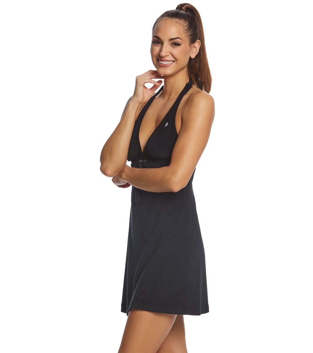 Polo Ralph Lauren Iconic Terry Cover Up Halter Dress