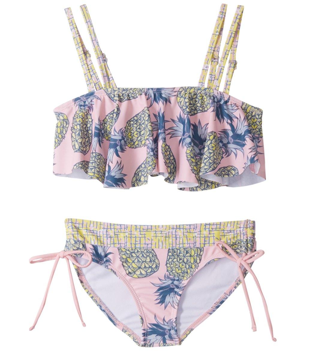 f93a52477aeab Limeapple Girls' Sweet Sunsations Printed Ruffle Bikini Set (Little Kid,  Big Kid) at SwimOutlet.com