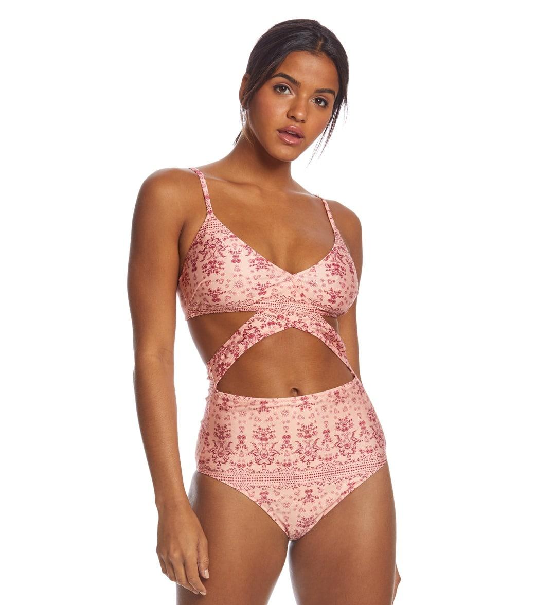 c82537f3 MINKPINK Zara Cross Front One Piece Swimsuit