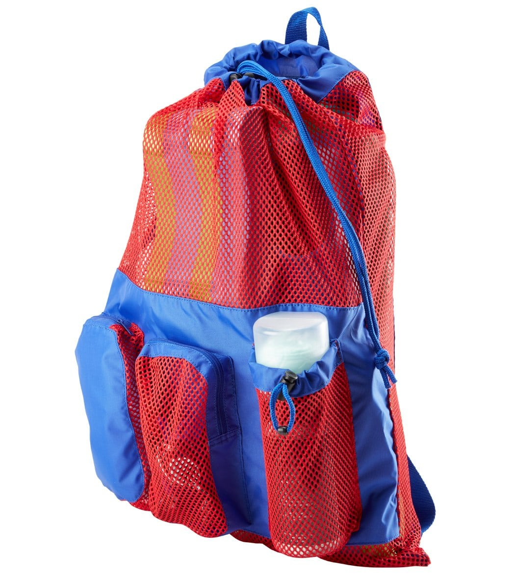Sporti Equipment Color Block Swimming Mesh Bag Backpack