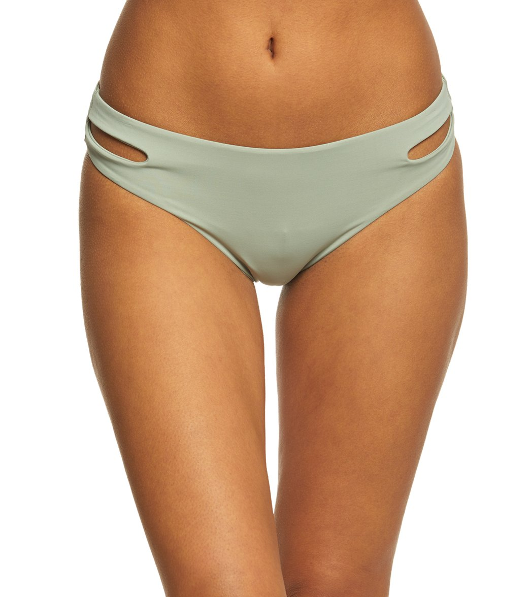 2dc0b38da78 Roxy Women's Solid Softly Love Reversible 70's Pant Bikini Bottom at  SwimOutlet.com