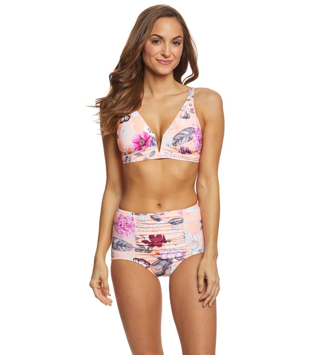 a1d8df49a5ab7 Seafolly Modern Love Longline Triangle Bikini Top at SwimOutlet.com ...