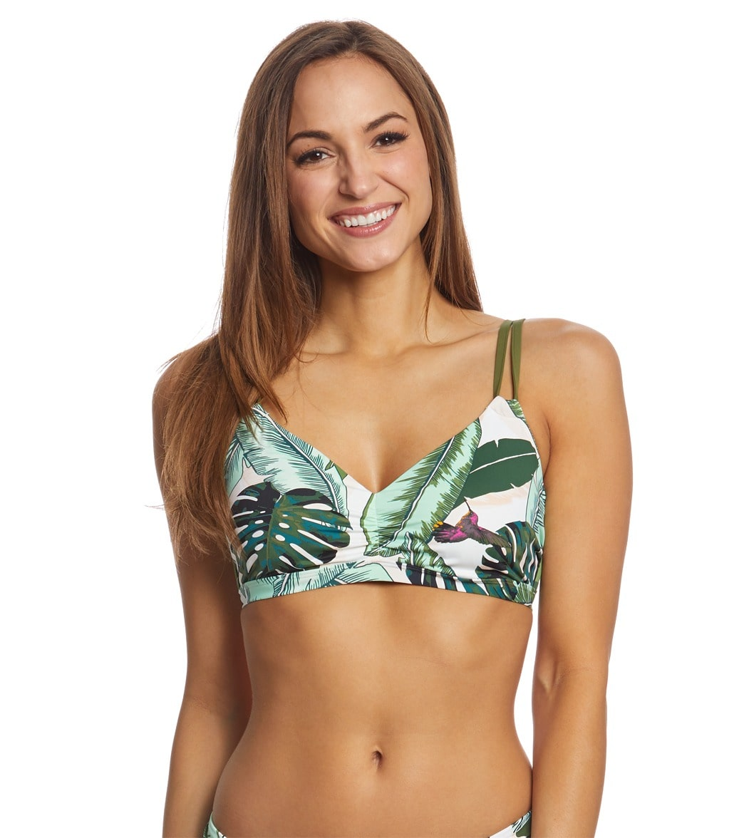 91e59c37bb Seafolly Palm Beach Sweetheart Bralette Bikini Top (DD Cup) at  SwimOutlet.com - Free Shipping