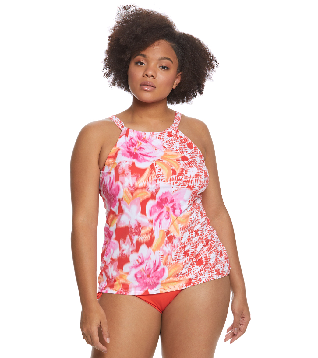 3c31abf1a56aa Beach House Plus Size Bungalow Bay Border Blair Tankini Top at SwimOutlet. com - Free Shipping