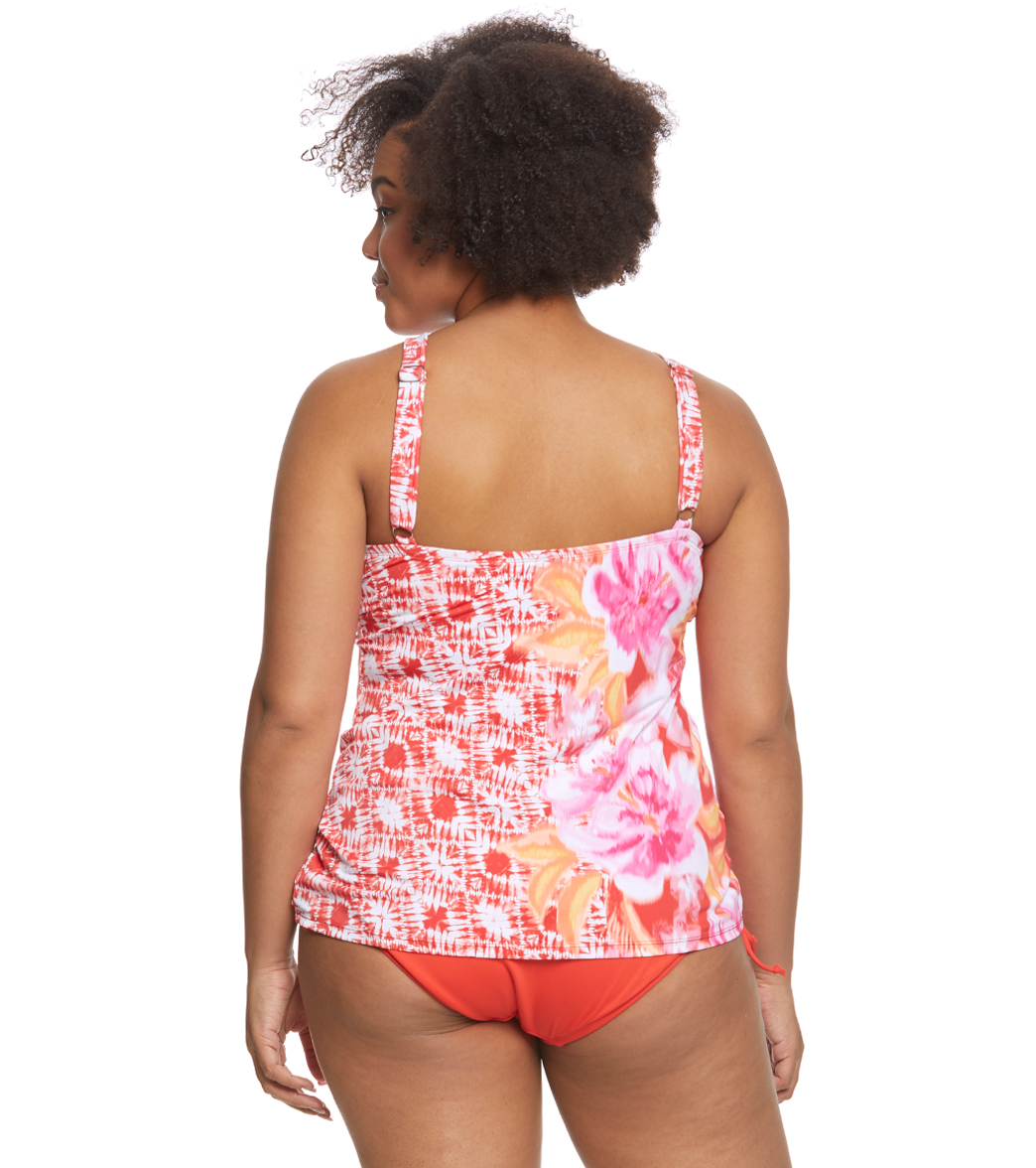 c8240f92453d8 Beach House Plus Size Bungalow Bay Border Blair Tankini Top at ...