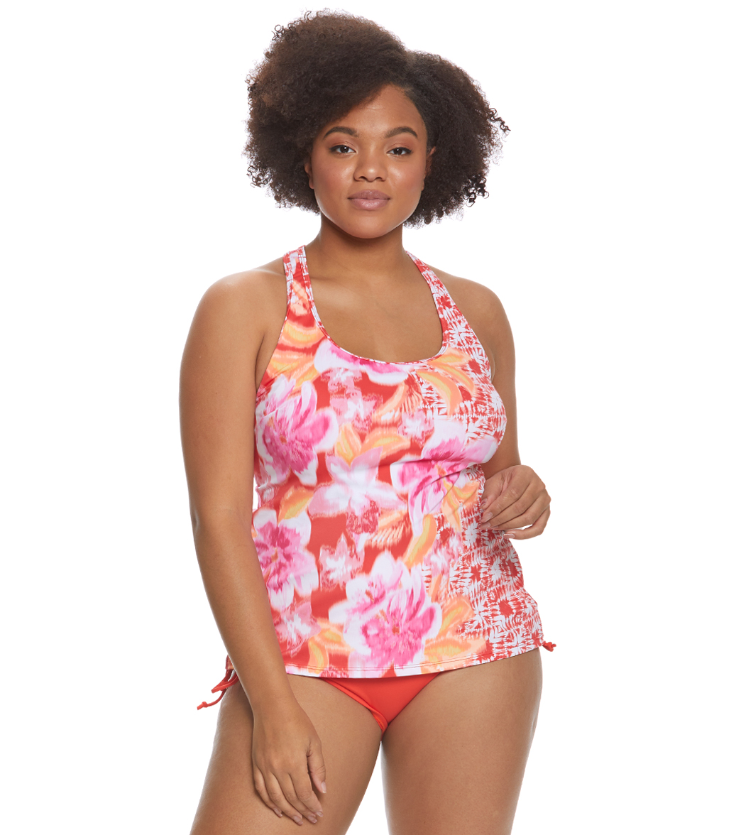 956701f7a4582 Beach House Plus Size Bungalow Bay Border Evelyn Tankini Top at  SwimOutlet.com - Free Shipping