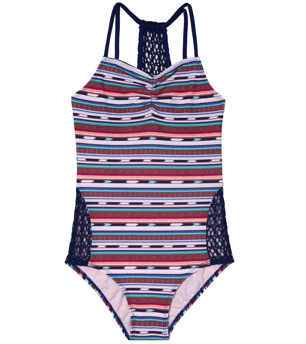 50c11d29d6ed4 Gossip Girls' Desert Stripe One Piece Swimsuit (Big Kid) at SwimOutlet.com