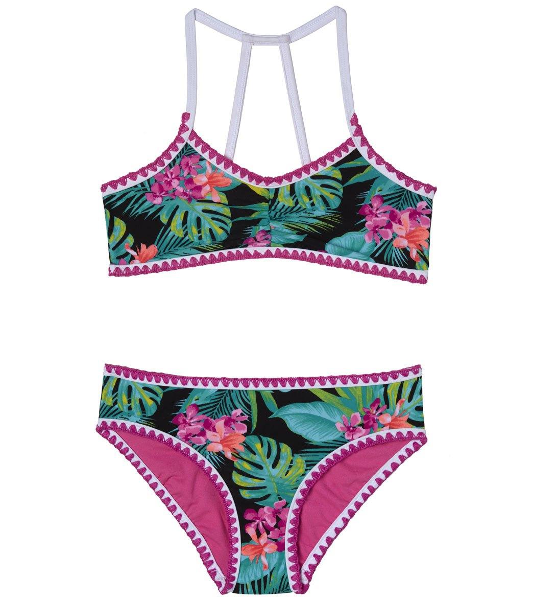 148ac70a45479 Gossip Girls' Tropical Escape Bikini Set (Big Kid) at SwimOutlet.com