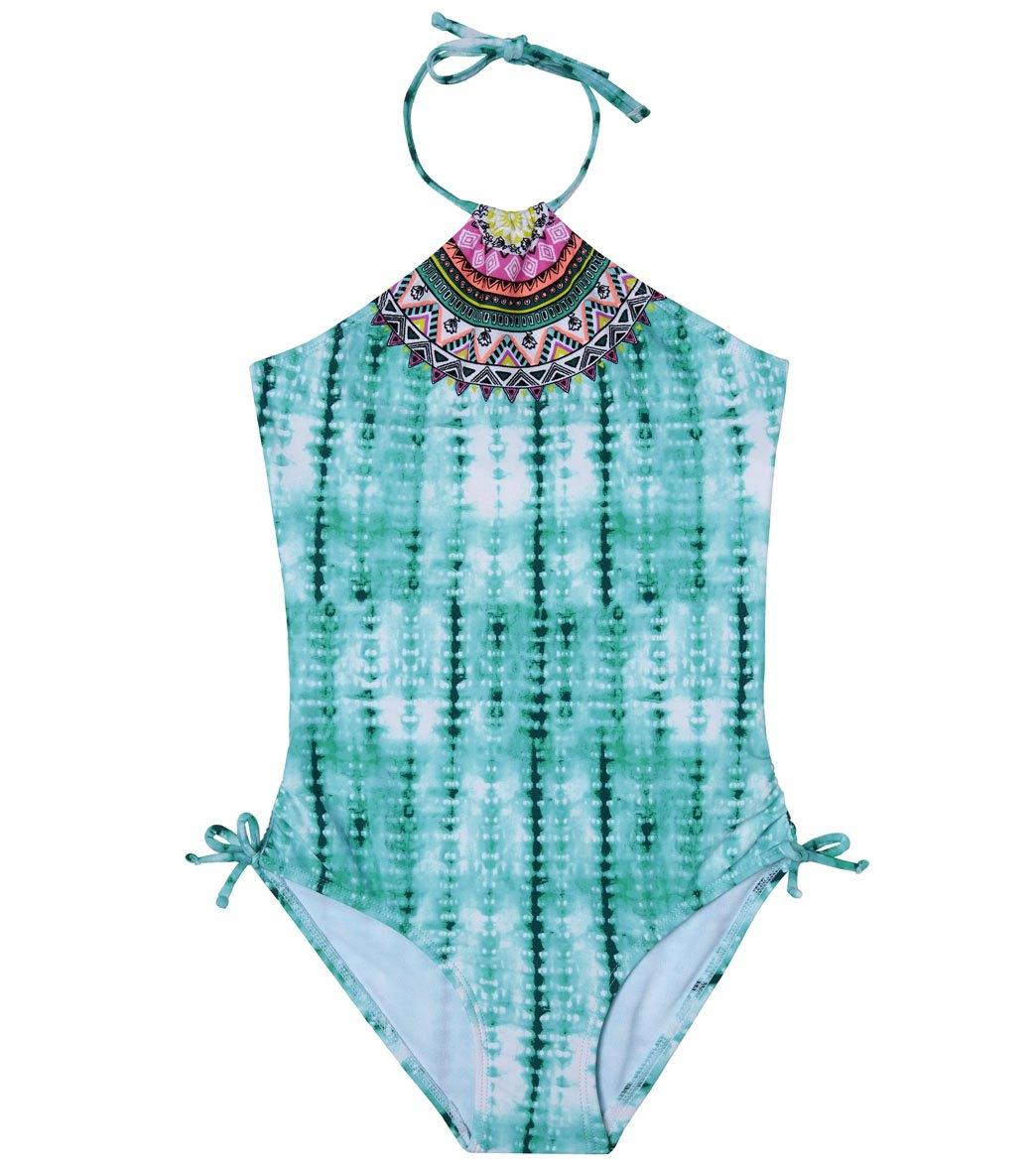 ea320edf5a822 Gossip Girls' Desert Rose One Piece Swimsuit (Big Kid) at SwimOutlet ...