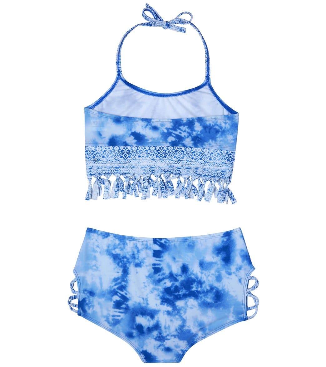 ed2bf4c375 Gossip Girls' Jean Addiction Two Piece Bikini Set (Big Kid) at ...