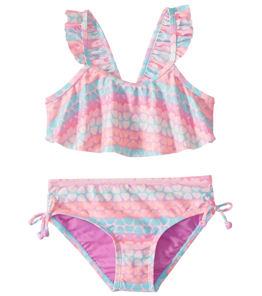 03a07204321f7 Hula Star Girls' Hearts Galore Two Piece Bikini (Toddler, Little Kid) at  SwimOutlet.com