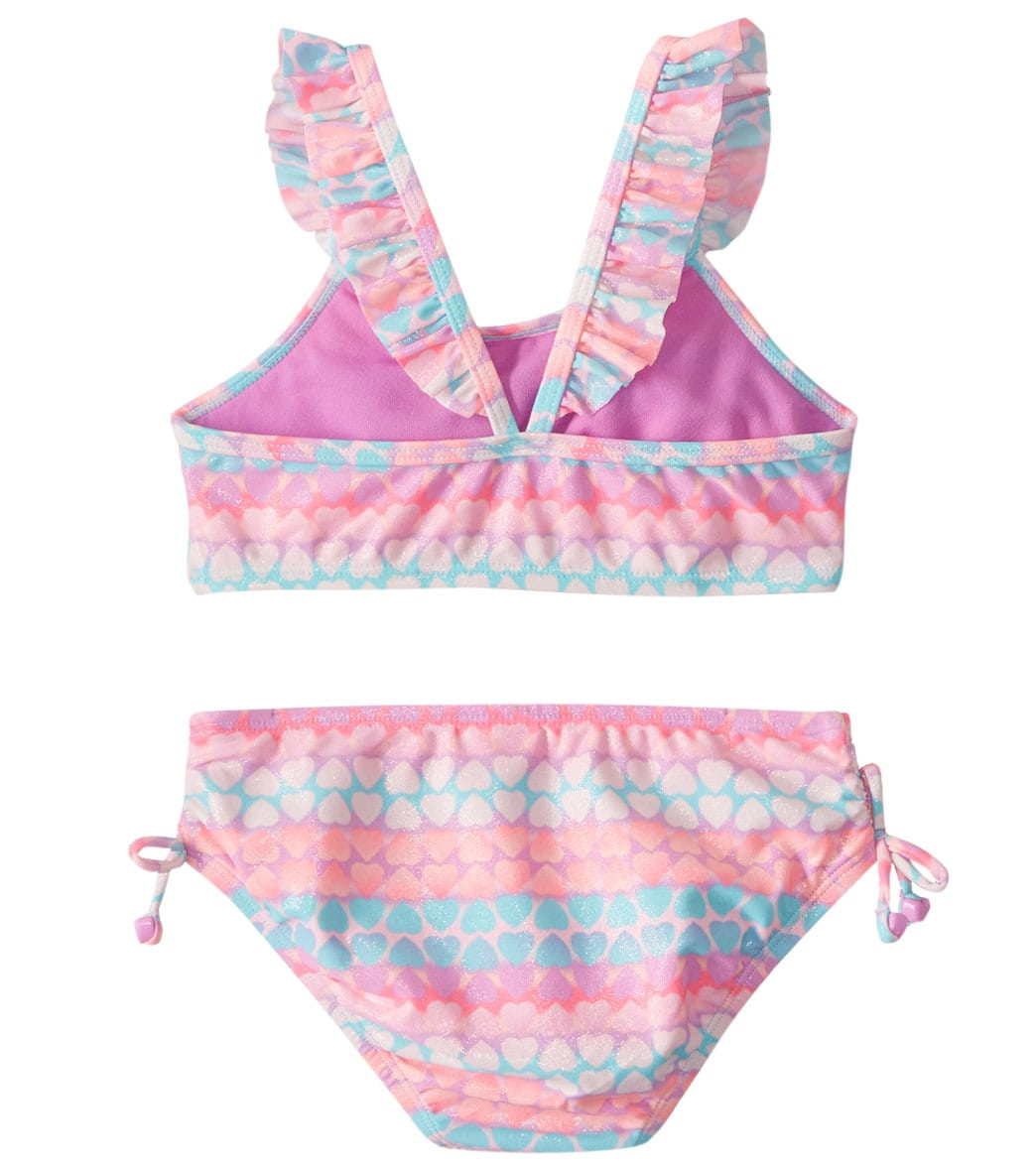 fc362ac9588ab Hula Star Girls' Hearts Galore Two Piece Bikini (Toddler, Little Kid ...
