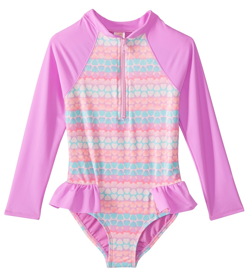 9cfd1546346 ... Girls' Hearts Galore Long Sleeve One Piece Swimsuit (Toddler, Little  Kid. Share