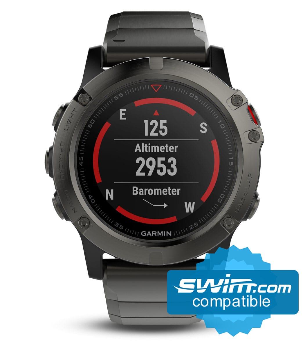 Garmin Sports Watch >> Garmin Fenix 5x Sapphire Multi Sport Gps Watch At Swimoutlet Com