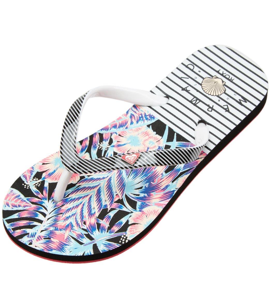 6132b1dacb7e34 Roxy Girls  Pebbles VI Flip Flop (Little Kid