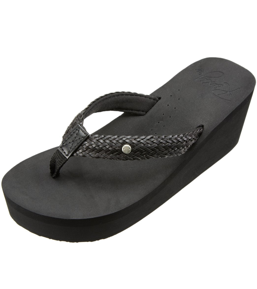 32421231f9e1 Roxy Women s Mellie II Wedge Flip Flop at SwimOutlet.com
