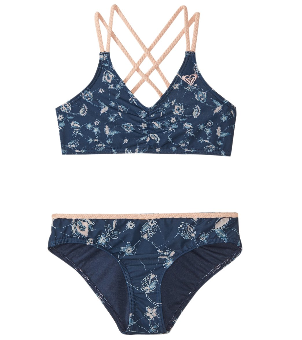 f508dd73b5 ... Roxy Girls' Beach Days Athletic Tri Swimwear Set (Big Kid). Share