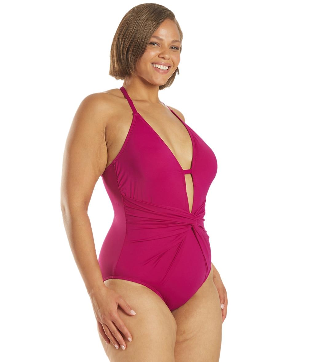 c5175bbd46 La Blanca Plus Size Island Goddess Twist One Piece Swimsuit at ...