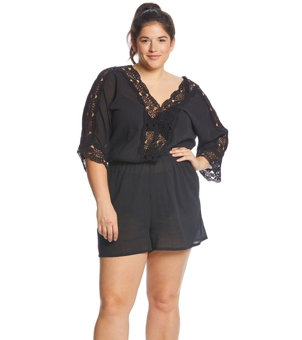 49ab698bb7702 La Blanca Plus Size Island Goddess Romper at SwimOutlet.com - Free Shipping