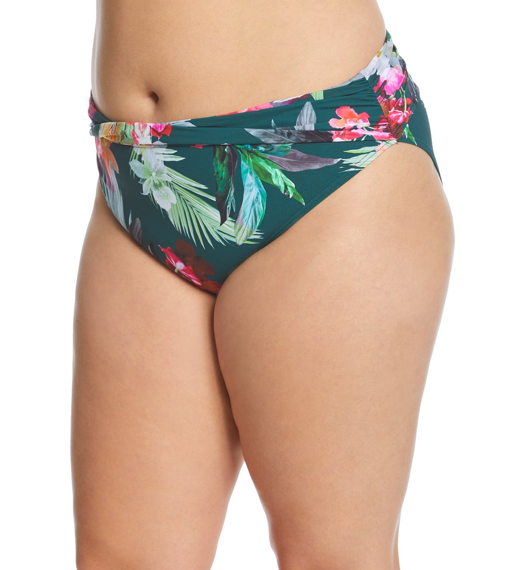 7cfdd2d0b36 La Blanca Plus Size Beyond The Jungle Hipster Bikini Bottom at ...