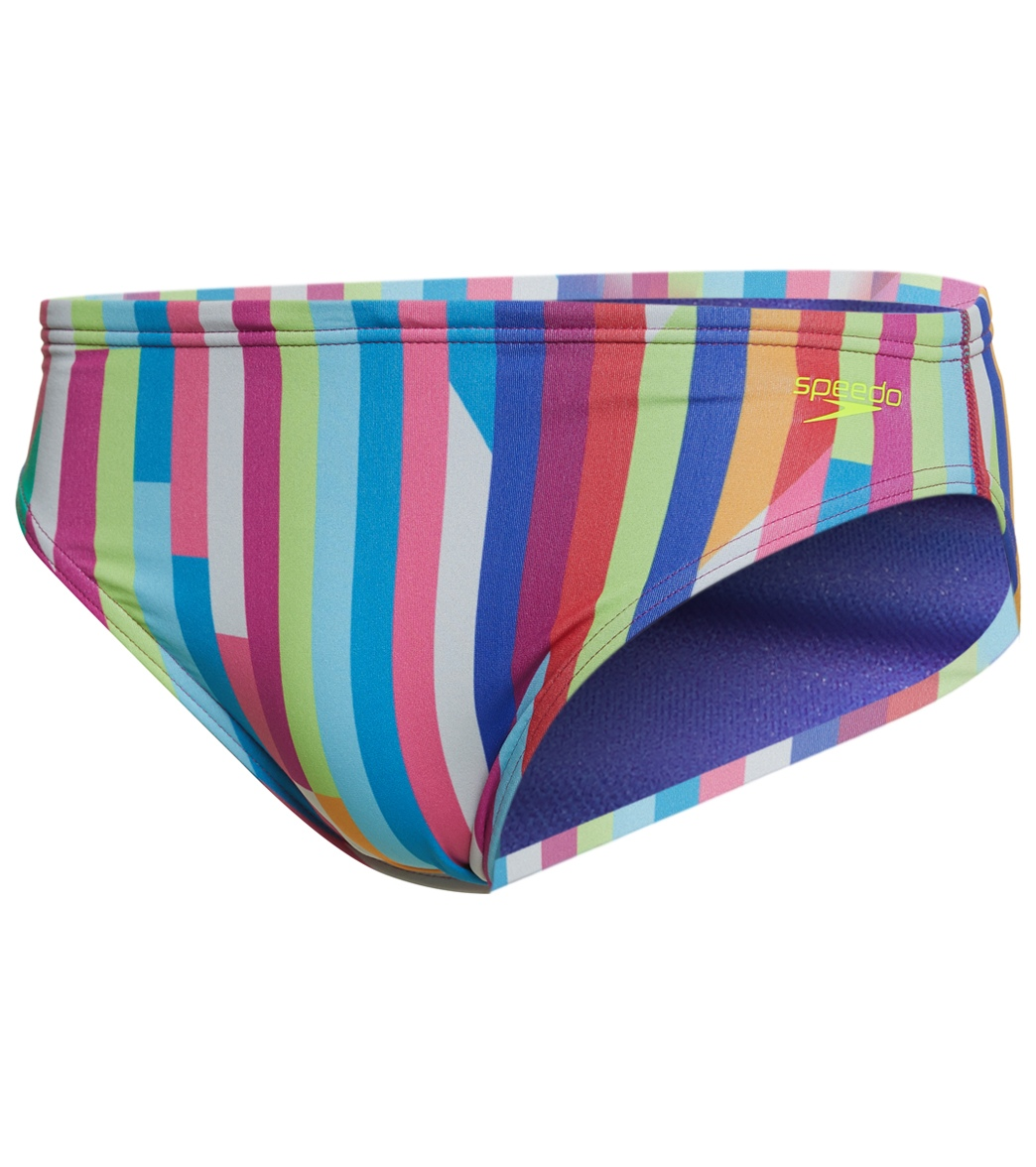 0989da18fbb28 Speedo Men's Turnz Rainbow Flash Brief Swimsuit at SwimOutlet.com