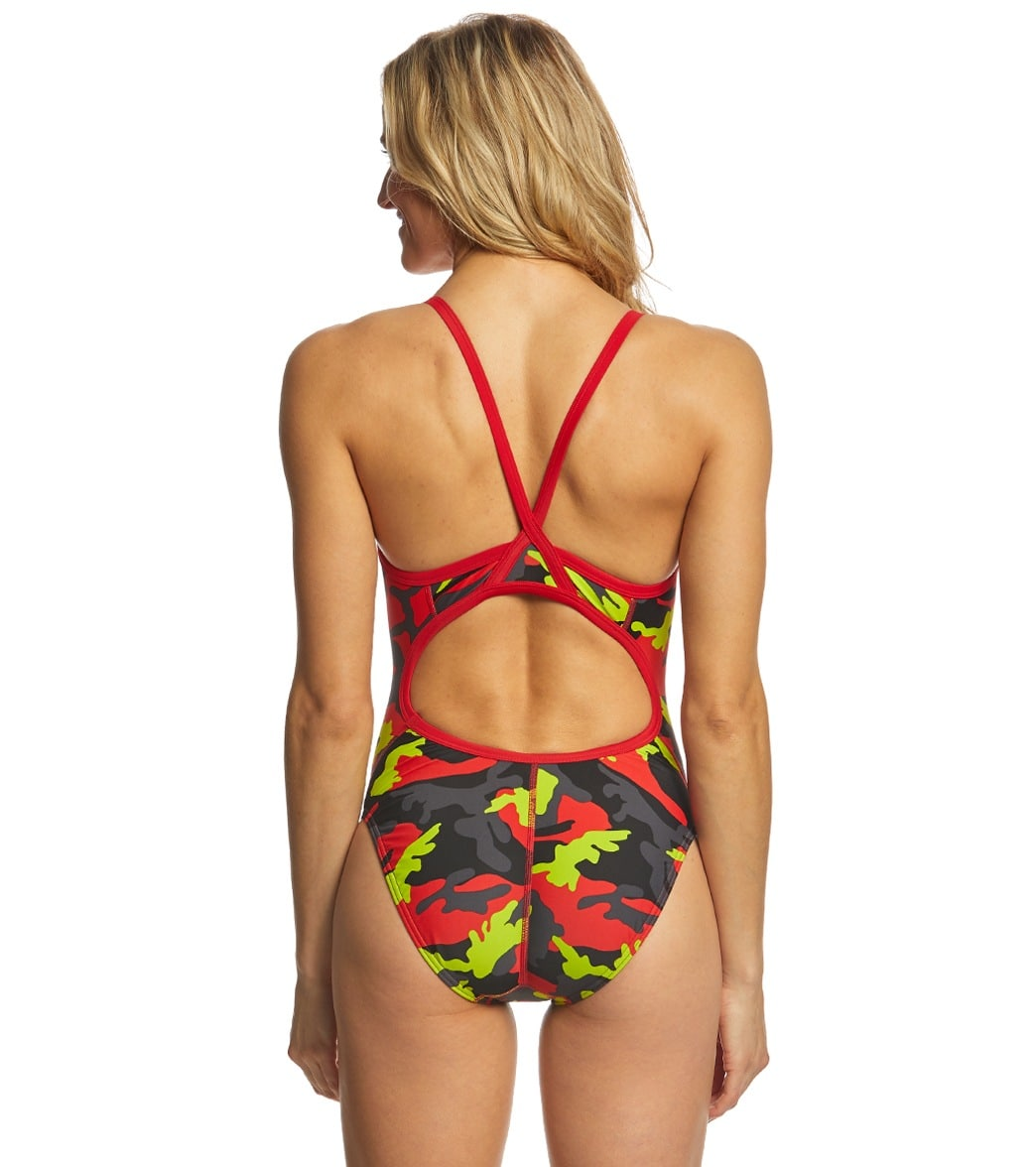 8ecdecb116a15 Speedo Women s Camo Squad Flyback One Piece Swimsuit at SwimOutlet ...