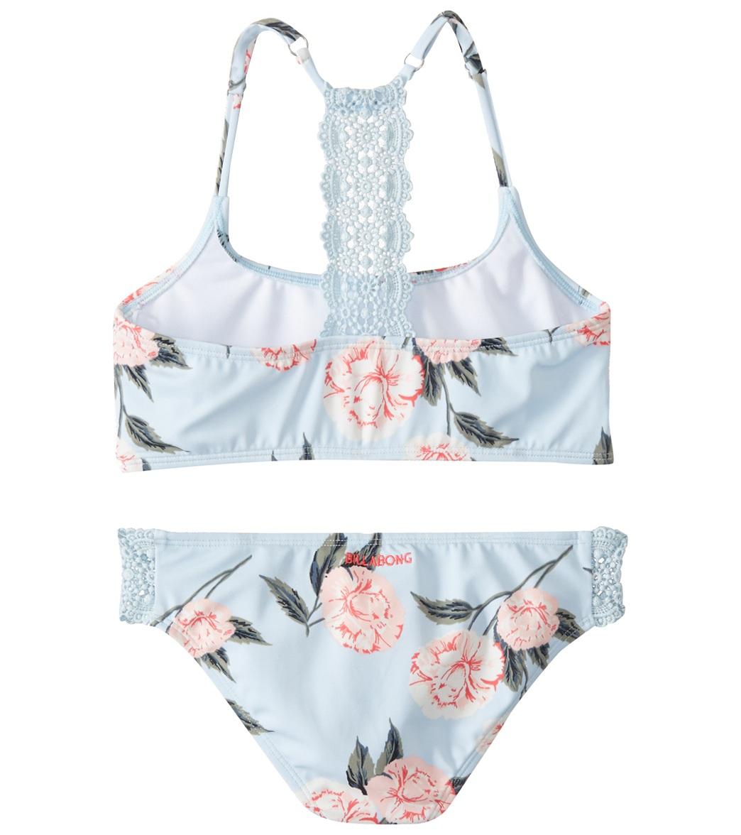 6f83294e0d Billabong Girls' Petal Daze Trilet Two Piece Bikini Set (Big Kid)