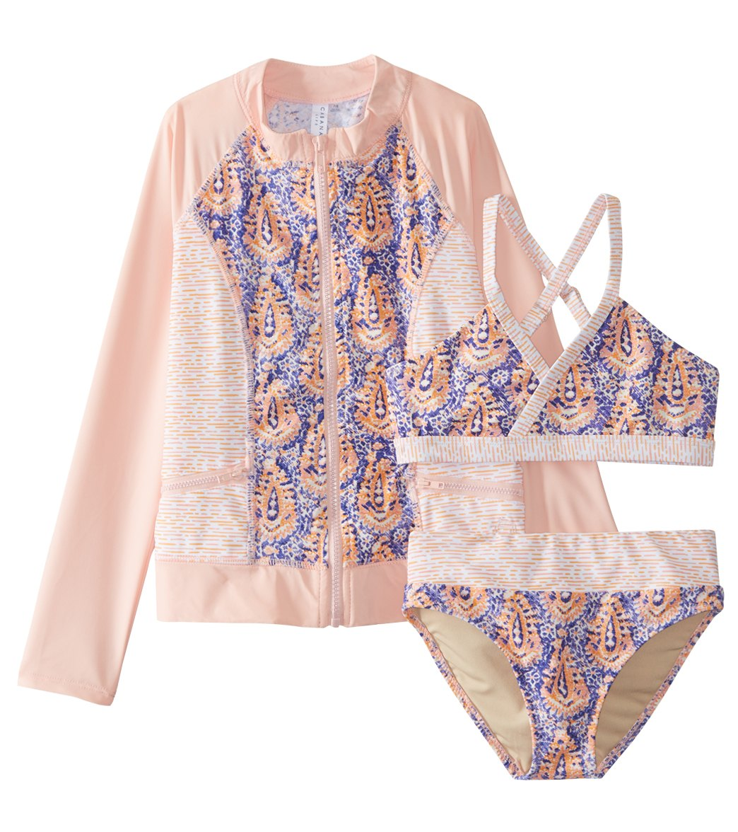 7e3602d109 ... Cabana Life Girls  Jaipur 3 Pc Rashguard Swim Set (Big Kid). Share