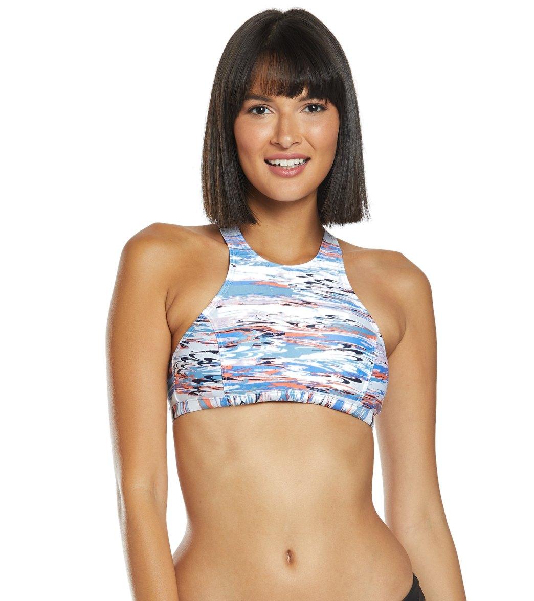 504741821a Speedo High Neck Bikini Top at SwimOutlet.com