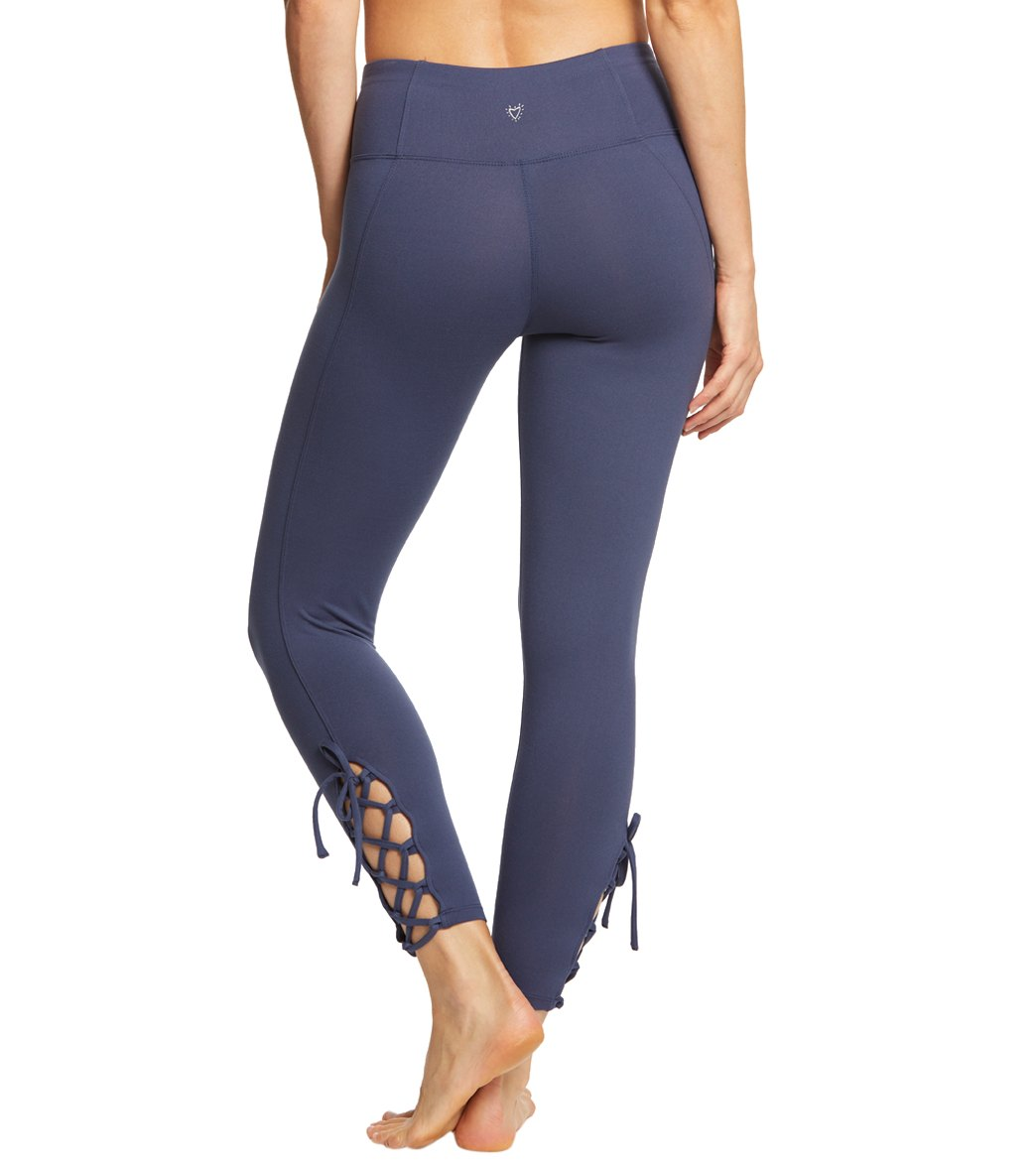 ecfc46dce55a4 Betsey Johnson Performance Lace Up 7/8 Yoga Leggings at YogaOutlet ...