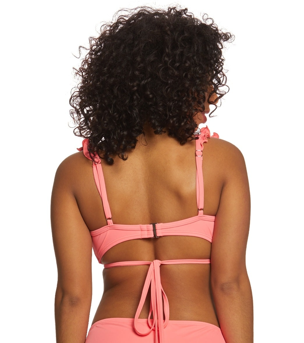 643e470c905da Coco Rave Solid Brooke Wrap Bikini Top (B C D Cup) at SwimOutlet.com ...