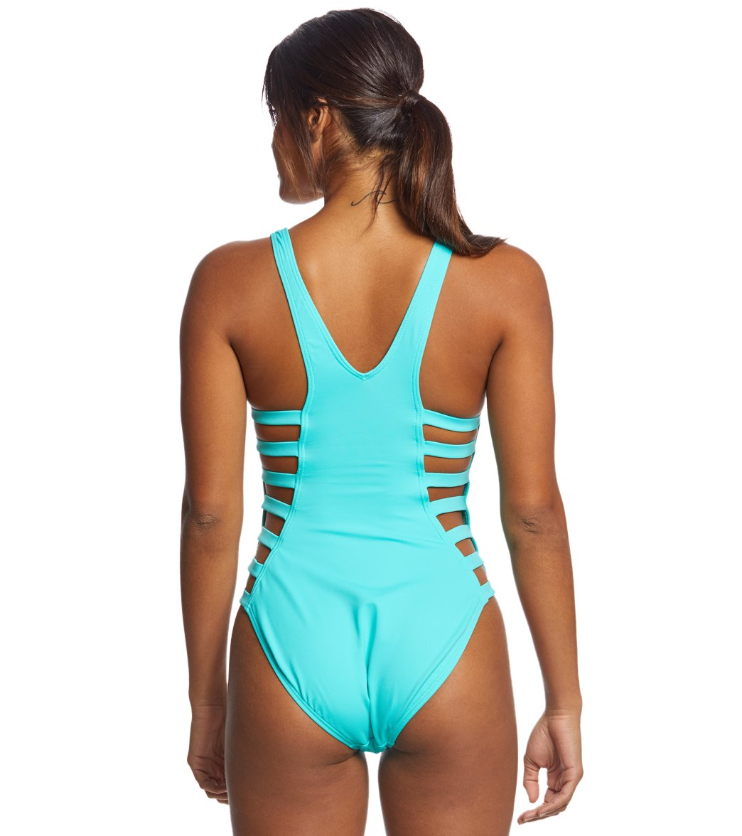 665222da97d48 Coco Rave Solid Paula Strappy Sides One Piece Swimsuit at SwimOutlet ...