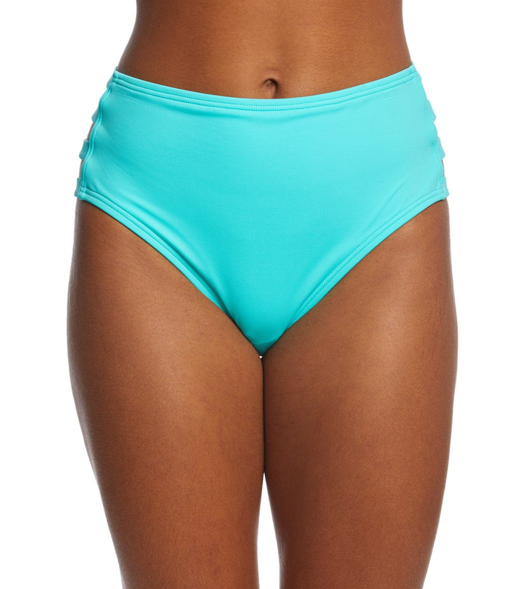 400af7566 Coco Rave Solid Strappy High Waisted Bikini Bottom at SwimOutlet.com