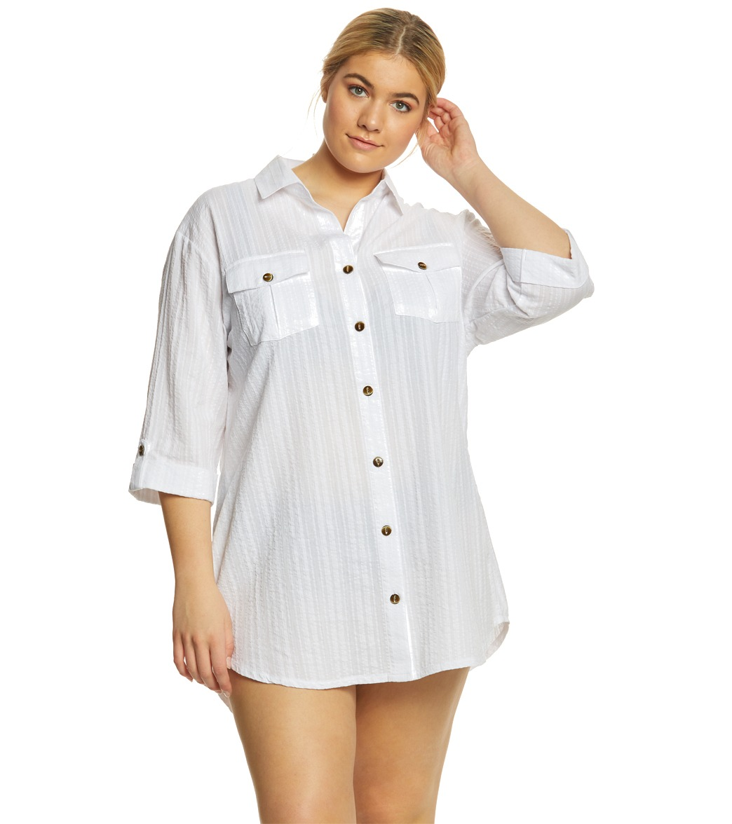 99be28b100 Oversized Denim Shirt Dress Plus Size - Data Dynamic AG