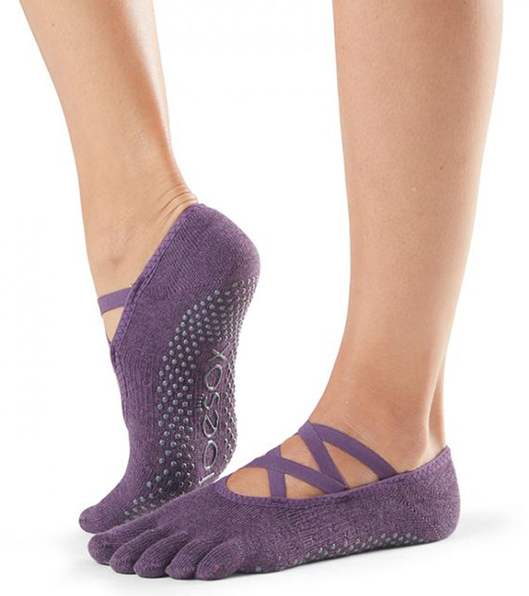 171d872a4bbe Toesox Elle Full-Toe Yoga Grip Socks at YogaOutlet.com