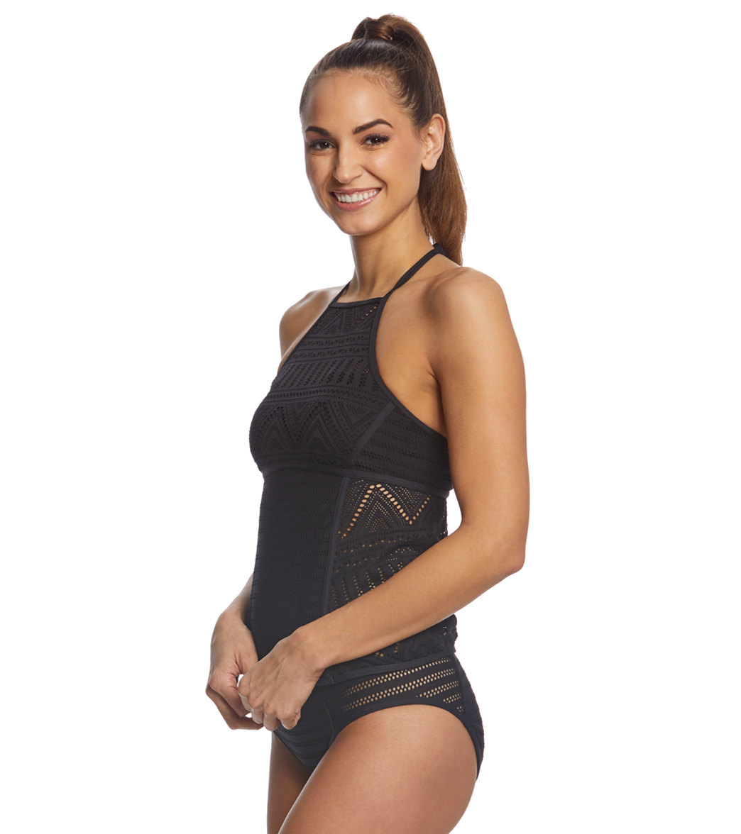 020acdfb260b6 Anne Cole Crochet All Day High Neck Tankini Top at SwimOutlet.com ...