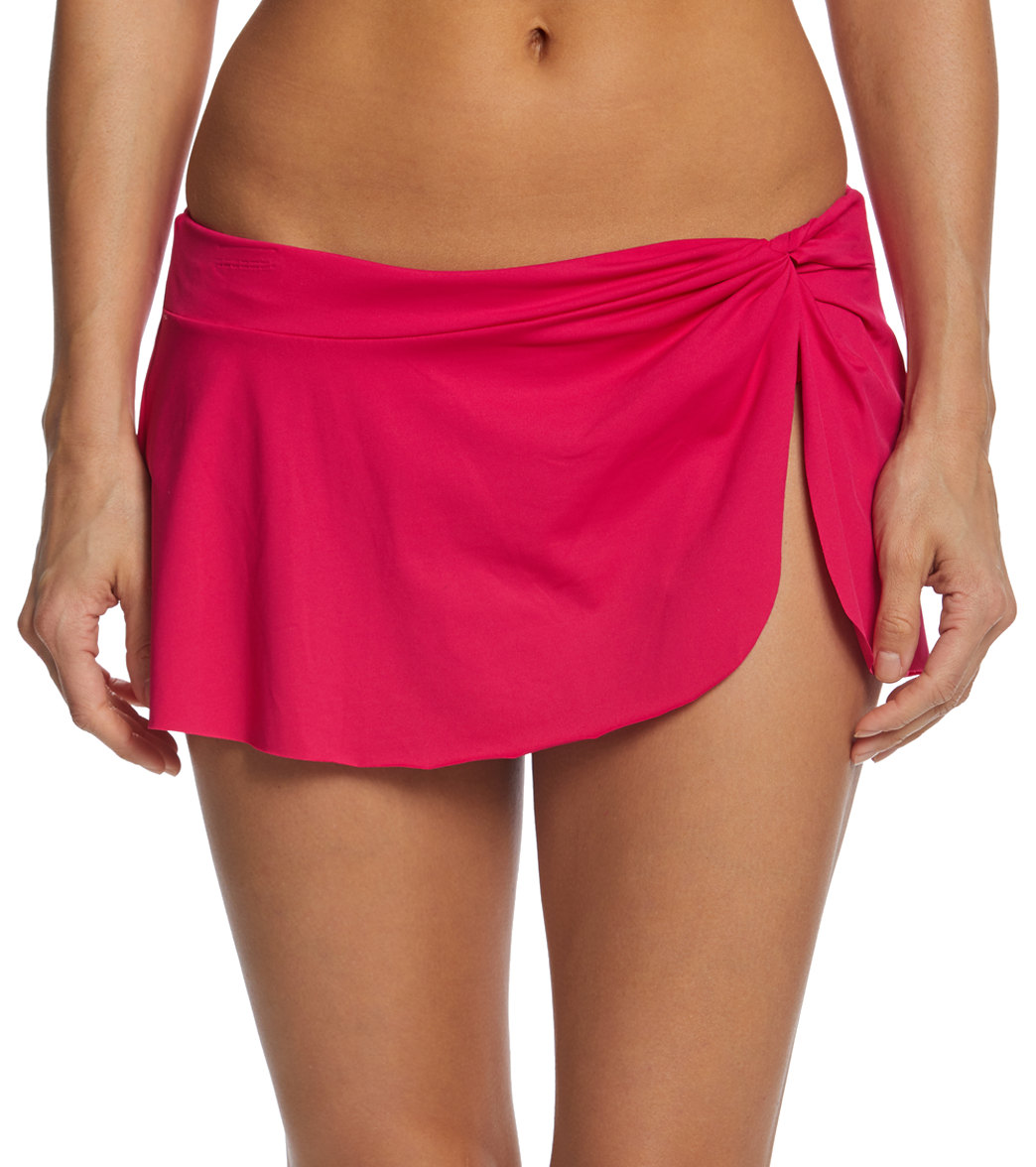 6d9e55b91be43 Anne Cole Knot Front Sarong Swim Skirt at SwimOutlet.com - Free Shipping
