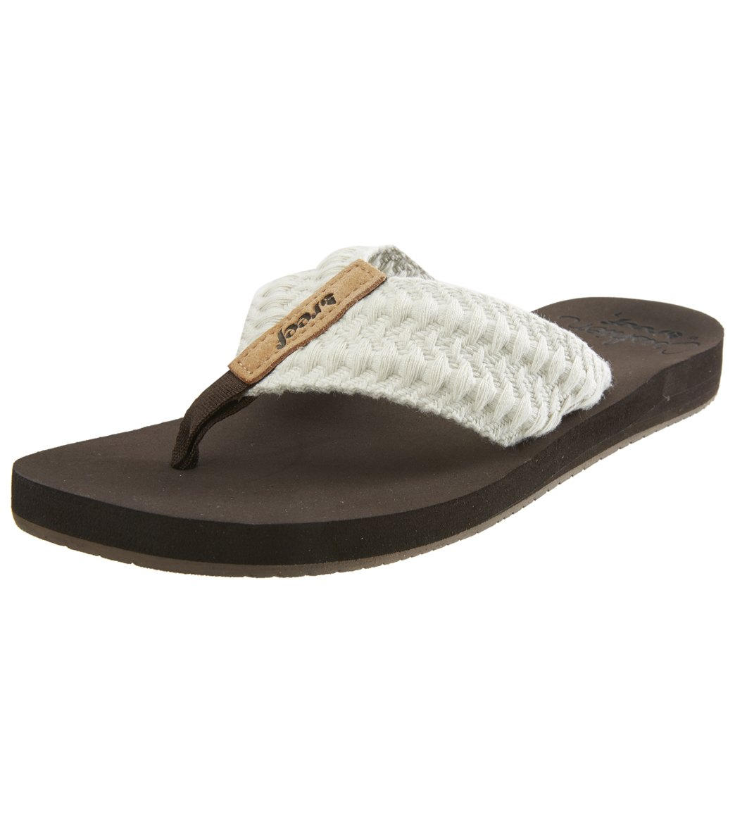 a9c529f1e40 Reef Women s Cushion Threads Flip Flop at SwimOutlet.com