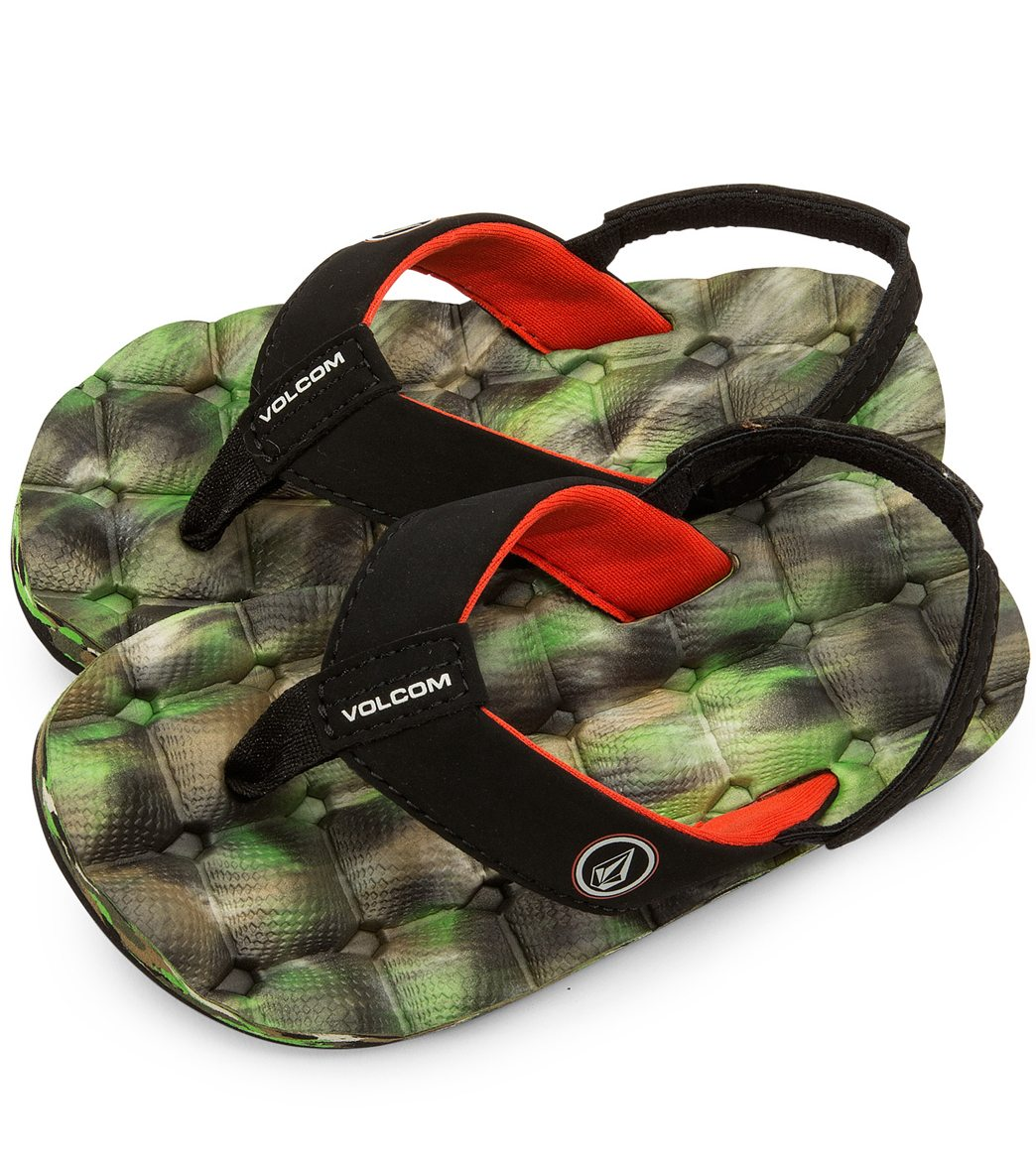72eb44d330b0 Volcom Boys  Recliner Sandal (Little Kid) at SwimOutlet.com