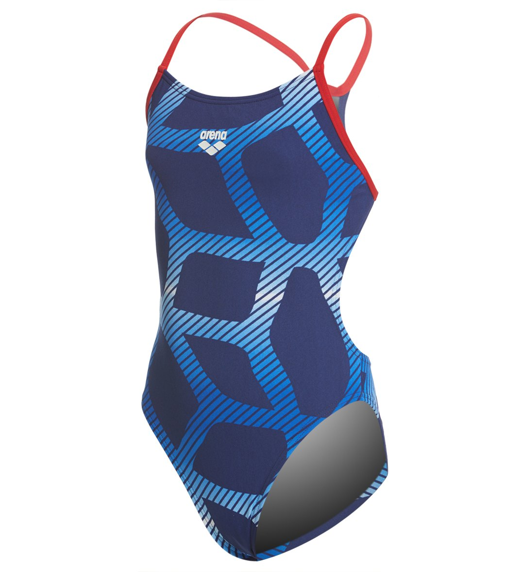 891418bafe26c Arena Girls' Spider MaxLife Booster Racer Back One Piece Swimsuit at  SwimOutlet.com - Free Shipping