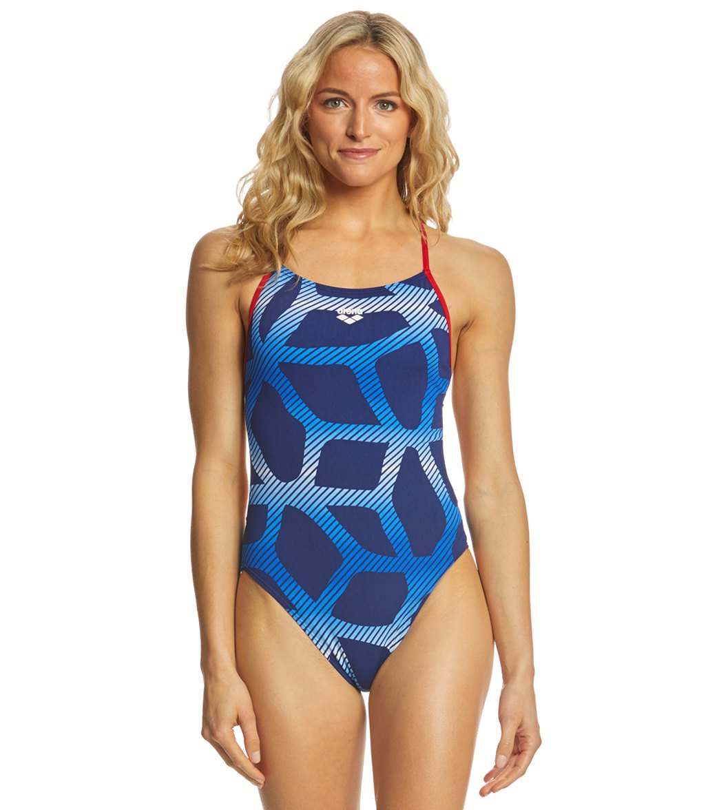 6e60373d712a5 Arena Women's Spider MaxLife Booster Racer Back One Piece Swimsuit at  SwimOutlet.com - Free Shipping