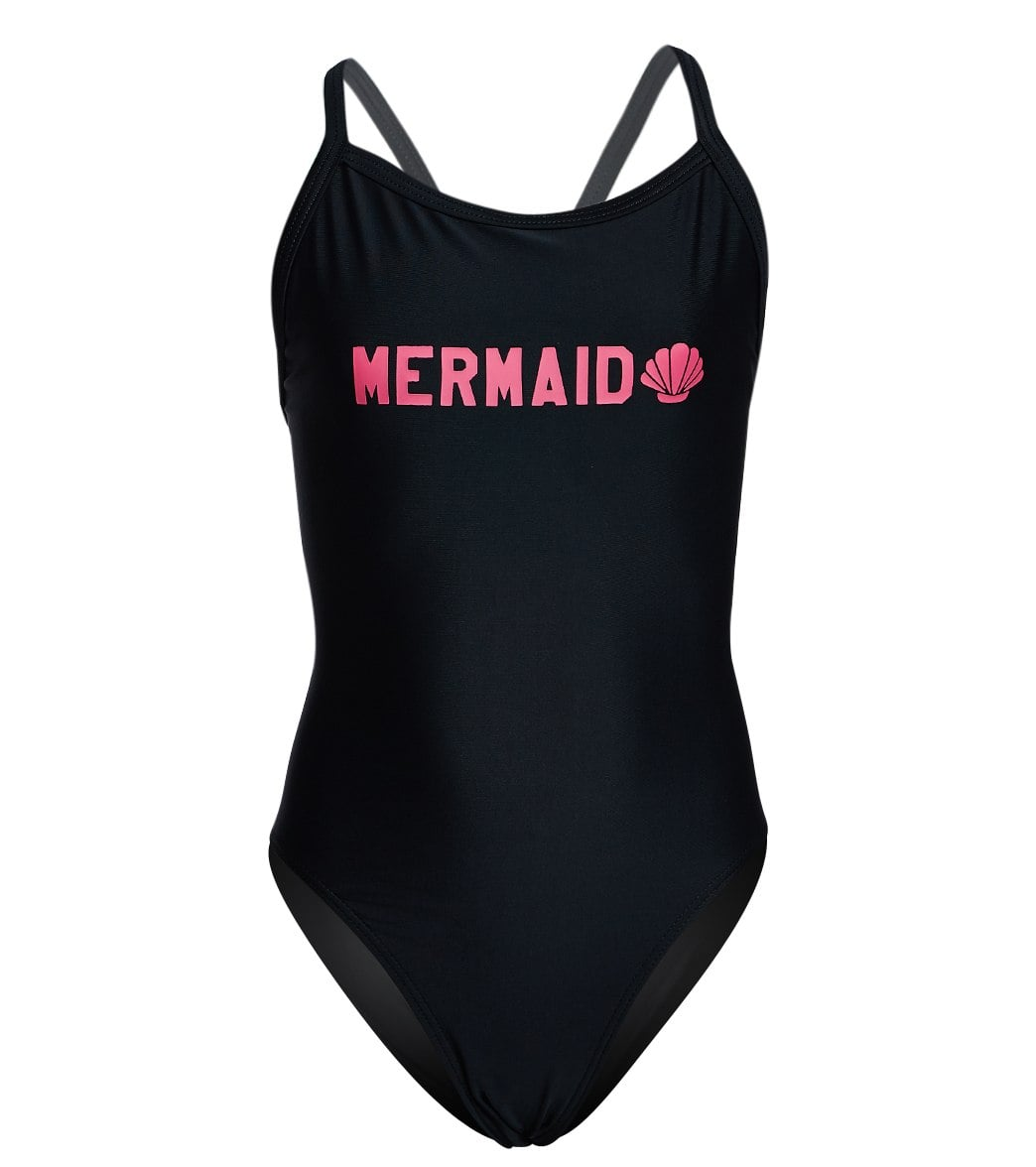 d6e4470ea195e iSwim Mermaid Thin Strap One Piece Swimsuit Youth (22-28) at SwimOutlet.com