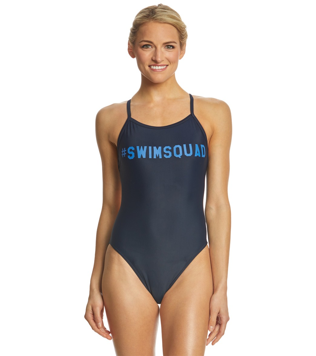 56d3775ff978f iSwim Hashtag Swim Squad Thin Strap One Piece Swimsuit at SwimOutlet.com