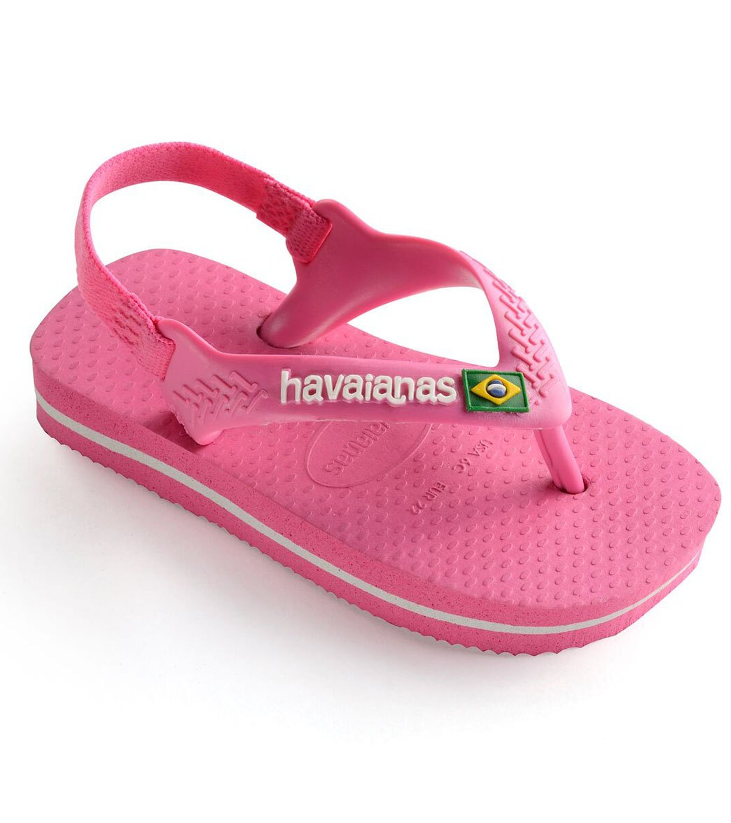 0888446bcb7cf6 Havaianas Brazil Logo Flip Flop (Toddler) at SwimOutlet.com