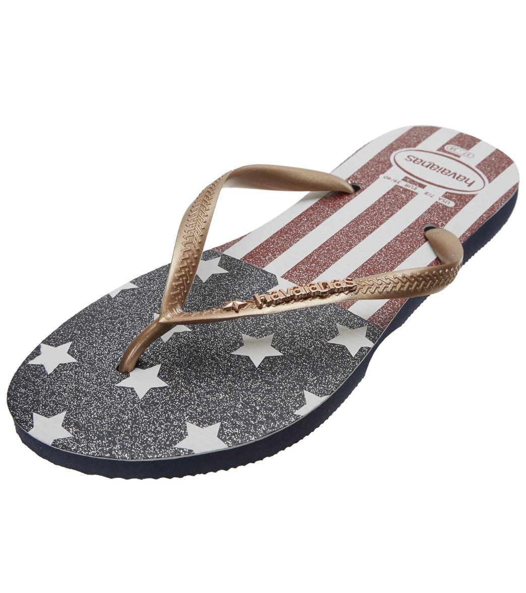 551928f836d Havaianas Women s Slim USA Glitter Flip Flop at SwimOutlet.com