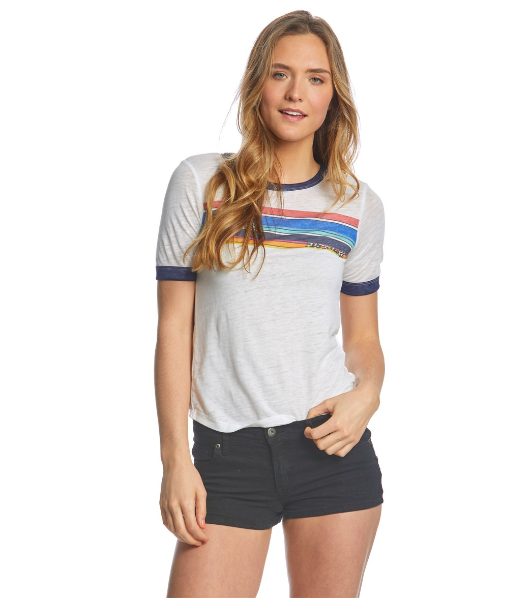 96119635f5809 Rip Curl Women's Surforama Ringer Tee at SwimOutlet.com