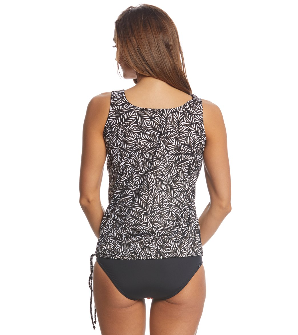 75ec12f2bbf3b Topanga Mastectomy Black   Tan Wear Your Own Bra Tankini Top at ...
